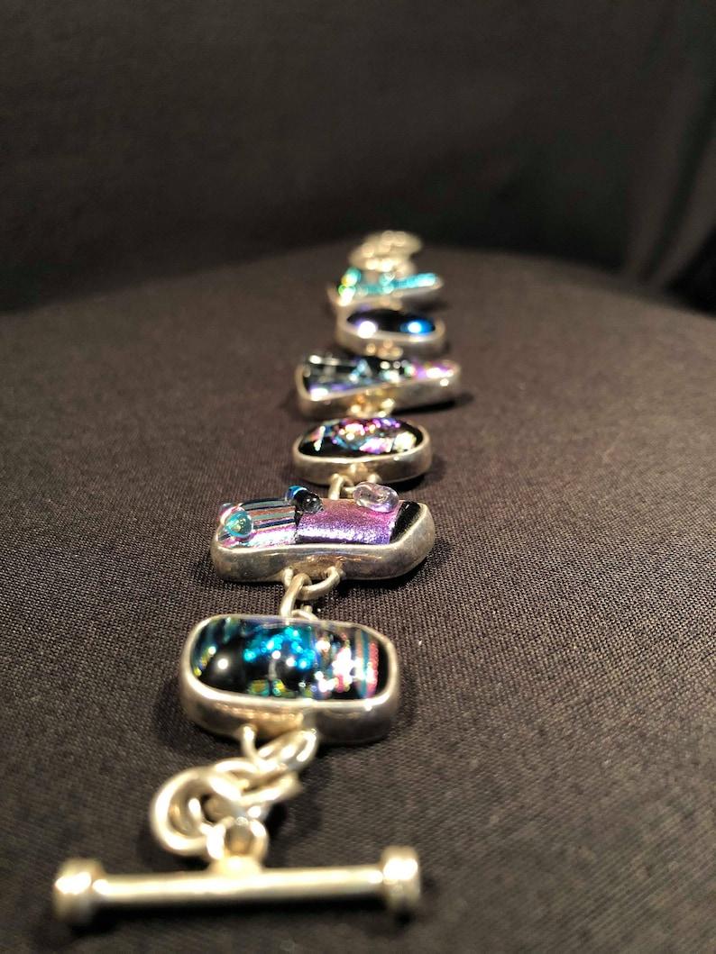 DICHROQUE VERRE Dichroic glass multicolored and multifaceted multicolored and multifaceted BRACELET