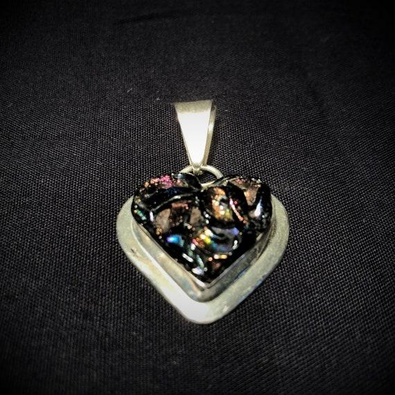 HEART-shaped, HEART-shaped, PENDENTIF. Muticolor a