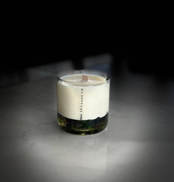Lavender Wine Bottle Candle