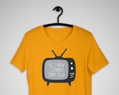 Matilda Unisex T-Shirt, Telly, Broadway Show, Musical Theater, Matilda Wormwood, TV, Television, Roald Dahl, Bookworm, Couch Potato