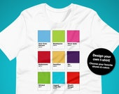 Customize Your Own Broadway Tshirt! Musicals Color Swatch Shirt, Unisex, Theater Gift, Broadway Shows, Pantone Colors, Hex Number, CMYK