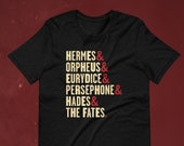 Hadestown Names Shirt, Broadway Musical, Orpheus & Eurydice, Persephone, Hades, Greek Mythology, Ampersand