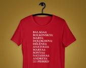 Great Comet of 1812 Ampersand Names Unisex Shirt, Broadway Musical, Natasha, Pierre, War & Peace, Josh Groban, Bella+Canvas