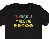 Emoji Unisex Tshirt, Musicals, Emojiland, Smiley Face, Musical Theater, Broadway