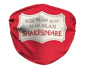 Shakespeare Something Rotten Mask, Adjustable Face Mask w/ Filter & Nose Wire, Broadway Show, Musical Theater Gift, Adult and Kids Sizes