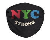 NYC Strong Face Mask, New York City, #NYCSTRONG, In It Together, Small Business, Broadway, New York Mask, Face Covering, Filter Pocket