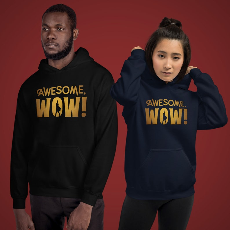 Awesome Wow Unisex Hoodie Hamilton King George Broadway image 0