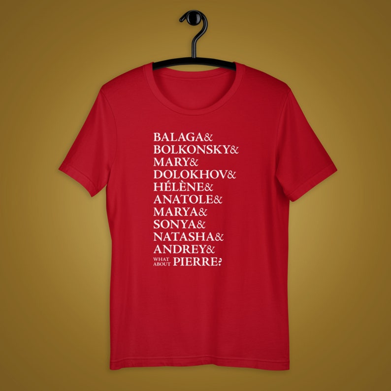 Great Comet of 1812 Ampersand Names Unisex Shirt Broadway Red