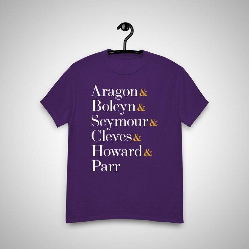 SIX the Musical Queens Unisex T-Shirt Broadway Show Purple