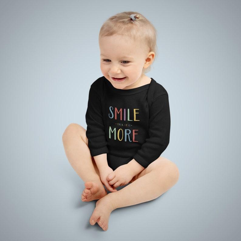 Talk Less Smile More Infant Long Sleeve Bodysuit Hamilton image 0