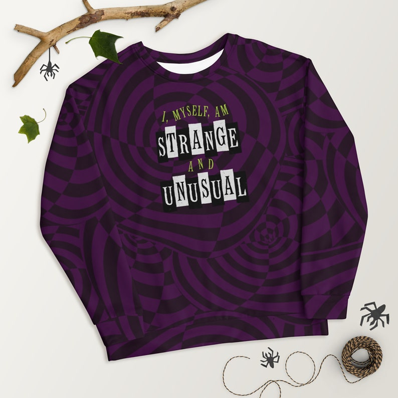 Beetlejuice Unisex Sweatshirt Strange & Unusual Broadway image 0