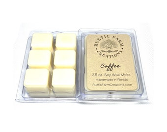 Soy Wax Melts | Coffee Scented | Rustic Farm Creations | wax melt clamshell | Scented wax melts