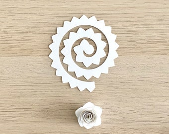 10 Pack Paper Flower Template Ready To Roll |  Wedding, Sweet 16, Mini Handmade Roses, Valentine's Day, Box Frame, Birthday, Anniversary