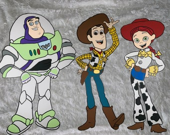 one 2ft tall Toy Story cutoutstandee prop room decoration party decoration Buzz, Woody, or any friend