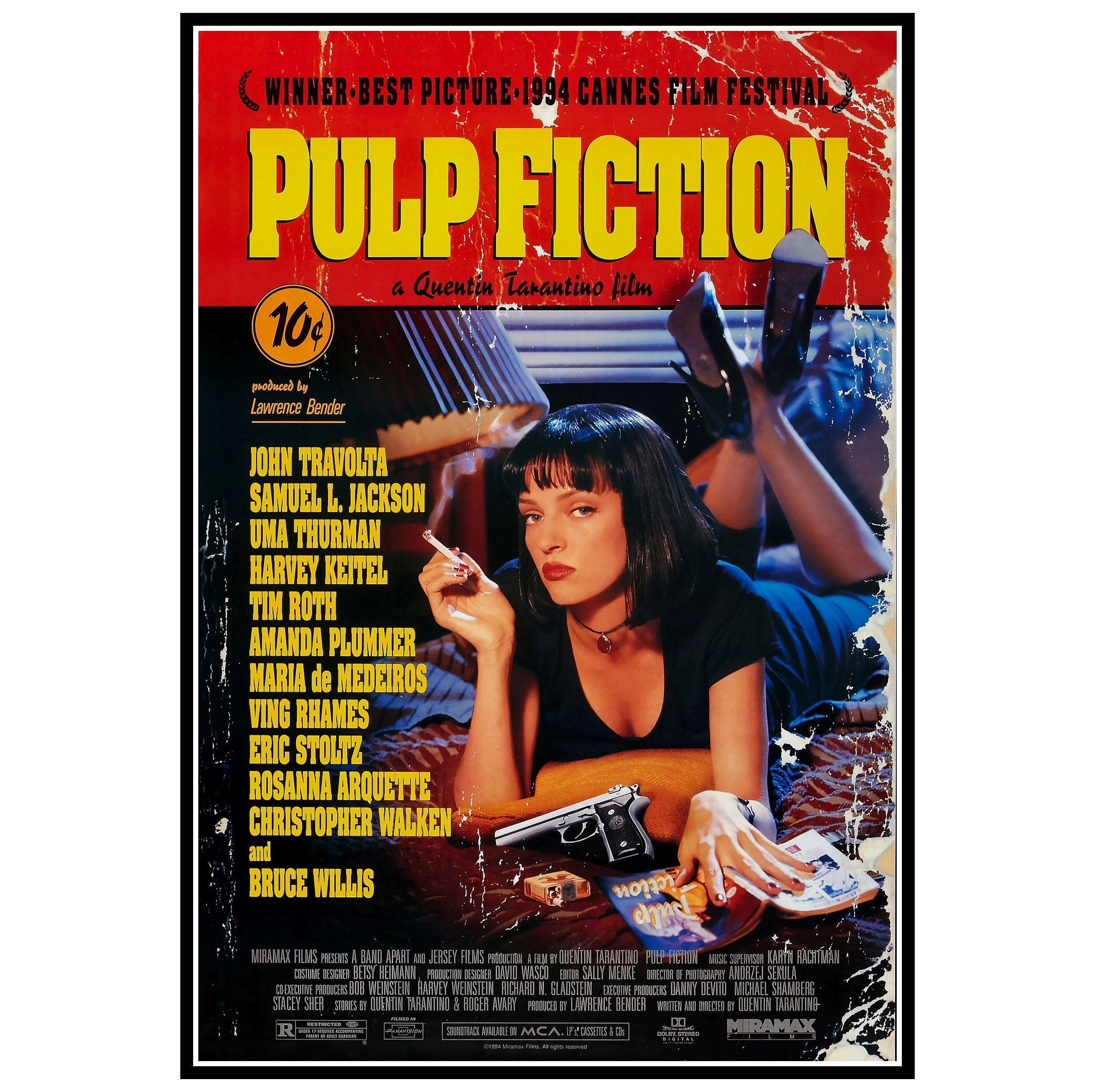 Pulp Fiction Movie Poster Prints and Canvas Prints