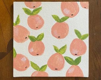 Feelin' Peachy - painted canvas