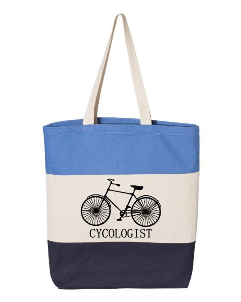 Bicycle Rider Bike Lover Bike Enthusiast Bicycle Bag Cotton Canvas Tote Cycologist Bicycle Tote Bike Bag Cycle Canvas Tote