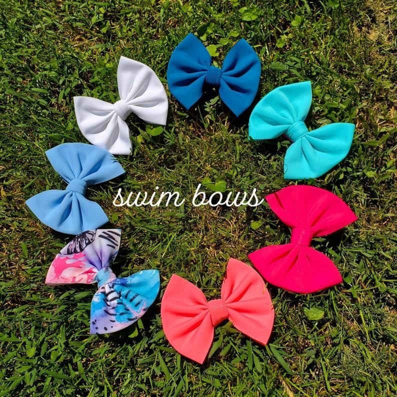Periwinkle swim headwrap /& bows