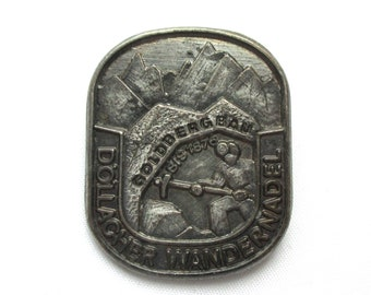 Collier Miner Finely Handcrafted in Solid Pewter In UK Lapel Pin Badge