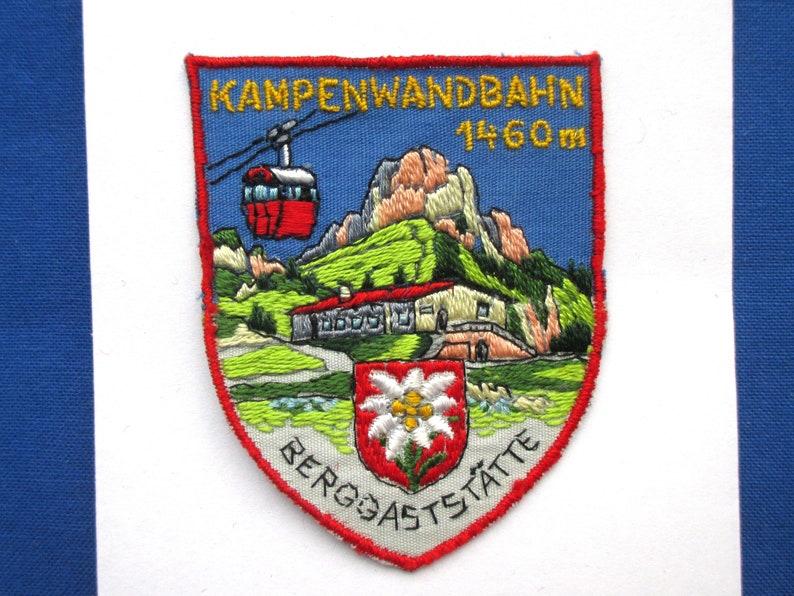 Jacket or Backpack Patch Kampenwandbahn Gondola Patch Bavaria German City Patch Bavarian Vintage Travel Souvenir Sew On Patch