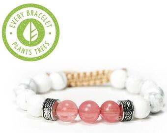 Handmade deforestation awareness elephant bracelet   Charm bracelet   Charity bracelet   Vegan bracelet   Animal bracelet