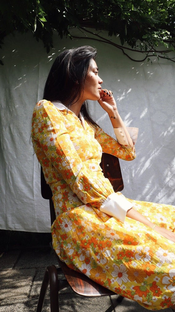 Flower Power 60s Dress
