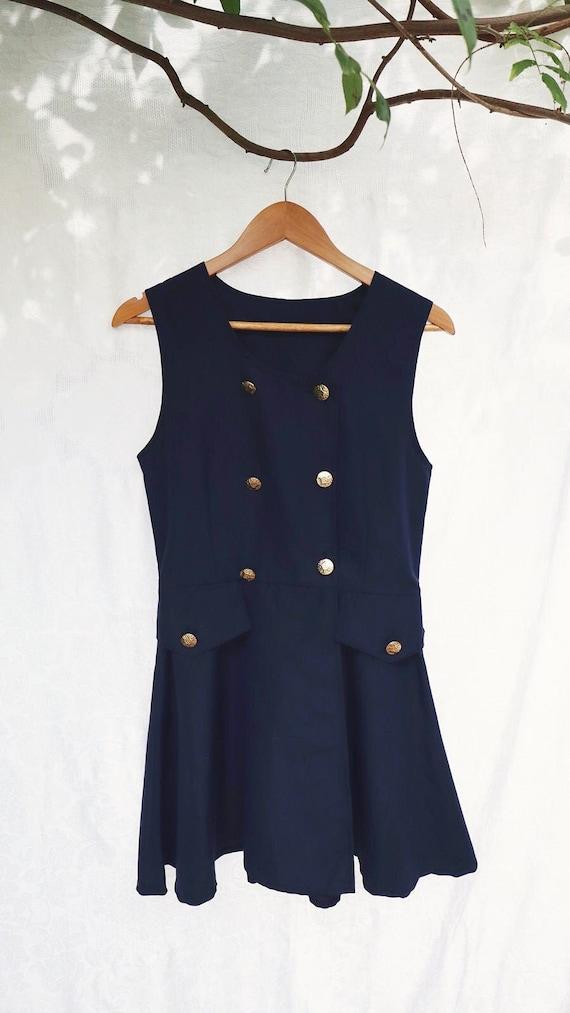 Vintage button up blazer dress