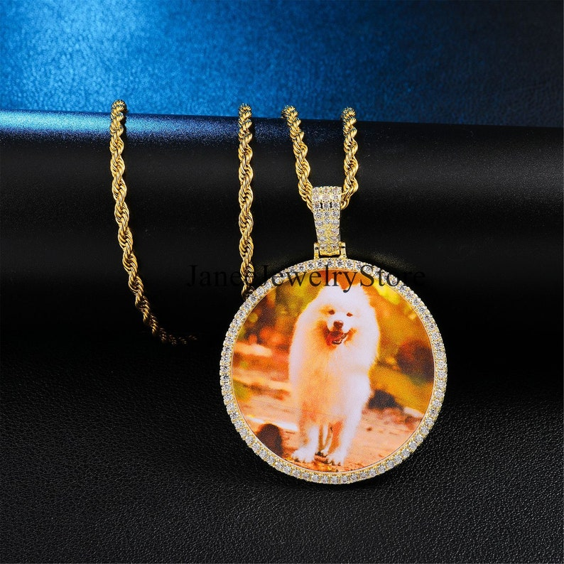 Pictures Pendant Custom Pendant Necklace Personalized Necklace for Jewelry Gifts Photo Pendant Custom Hiphop Necklace Image Pendant