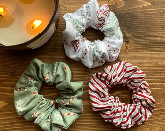 Hair Accessory Christmas Scrunchie Gingerbread Scrunchie Ponytail Scrunchie Hair Scrunchie Hair Decoration