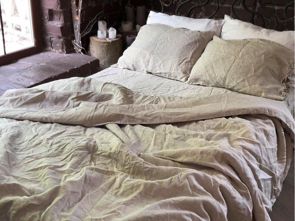 Organic Linen Bedding King Queen Stone, Organic Linen Bedding Nz
