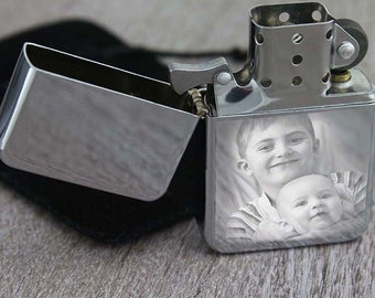 Customizable ESSENCE LIGHTER: Engraved with photo or text