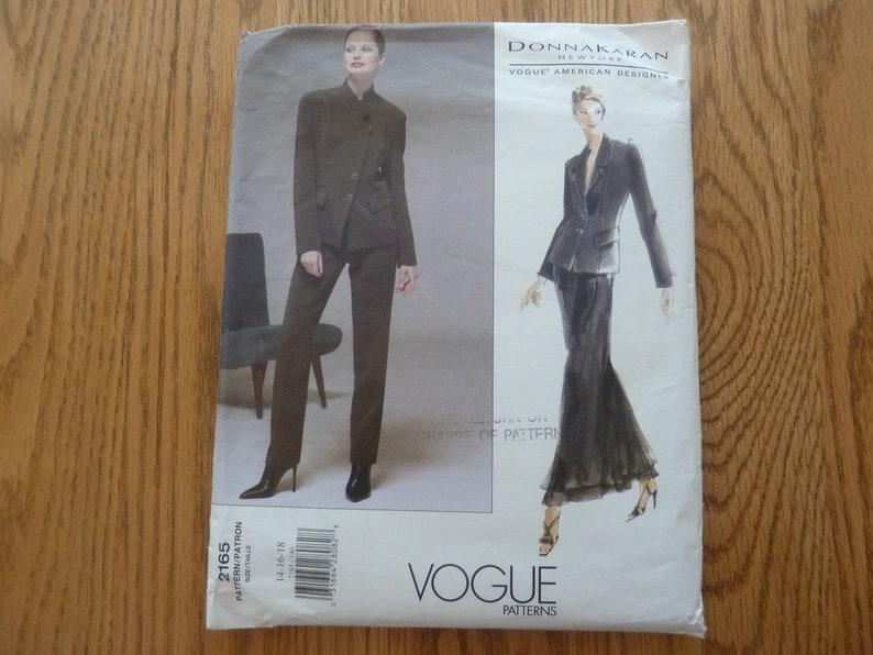 Vogue 2165 Donna Karan American Designer sizes 14-16-18