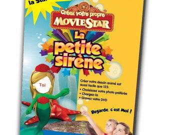 MP4 The Little Mermaid Custom DVD | custom animated film little mermaid | Personalised child DVD with little mermaid photo