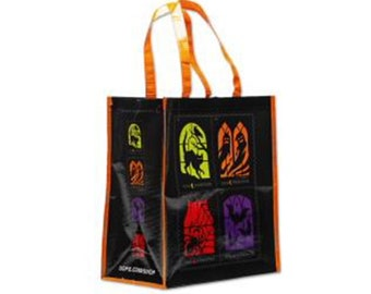 Reversible Eco-Friendly Tote Bag Spooky Glitter Cupcakes! Halloween