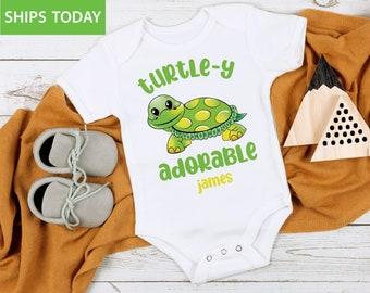 Sea Turtle Baby Wear Bodysuit Lime