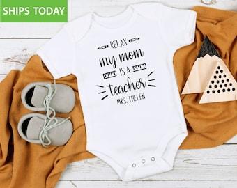 Custom Baby Bodysuit Read More Books Teacher School Education Boy /& Girl Clothes