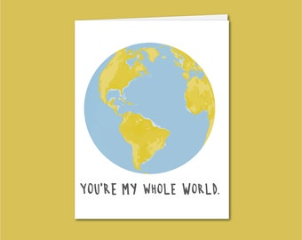 My Whole World Art Etsy