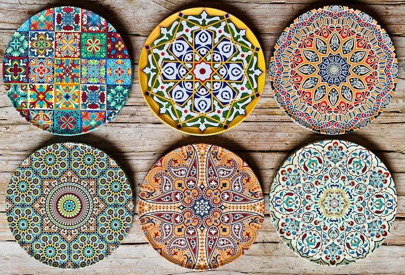 Coasters / Set of 6 Drink Coasters  Turkish / Mediterranean / image 0