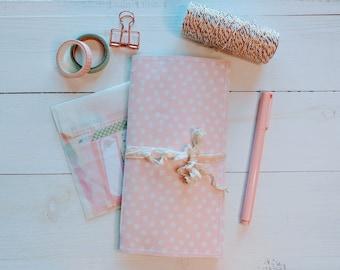 Polka Dot Notebook, Travelers Notebook Insert, Scrapbook Junk Journal, Journal Kit, Special Gift For Friend, Thoughtful Gift For Women