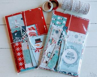 Winter Scrapbooking Kit, Papercraft Kit, Scrap Paper Bundle, Junk Journal Supply, Cardmaking, Happy Mail, Scrapbook Pieces, Gift For Crafter