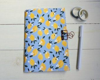 Lemon Notebook, Lemon Journal, Summer Notebook, Handmade Journal, Cute Stationary, Scrapbook Junk Journal, BuJo, Unique Gift For Friend