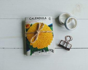 Vintage Seed Packet Journal, Mini Notebook, Garden Journal, Flower Notebook, Gift for Gardener, Unique Gift For Women, Pretty Stationary
