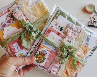 Summer Scrapbook Kit, Junk Journal Supply, Scrapbook Embellishment, Paper Craft Kit, Craft Grab Bag, Card Making, Happy Mail, Collage