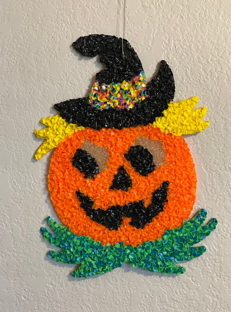 Melted Plastic Halloween Decorations on Etsy by Mamas Junkyard GIrl