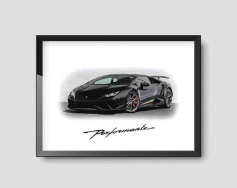CORVETTE STINGRAY POSTER Sports Car Supercar Sunset Wall Art Print Photo A3 A4