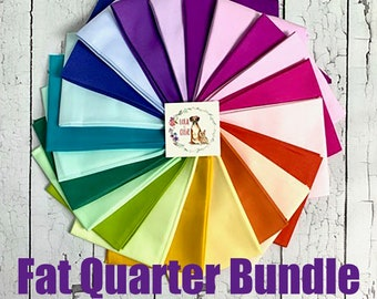 IN STOCK - Tula Pink Mythical Solids Collection - Dragons Breath -Unicorn Poop -  Fat Quarter Bundle -One Day FREE Shipping