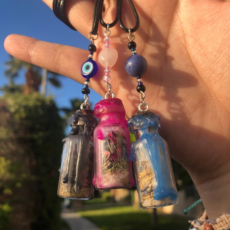 Protection  Self-Love  Anti-Anxiety Spell Jar Necklaces