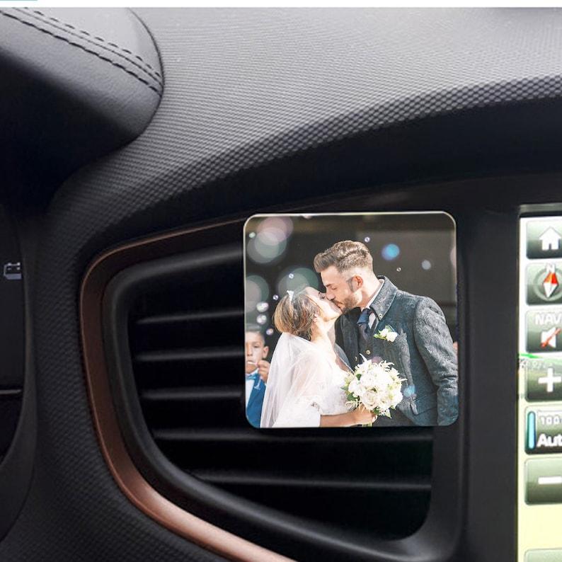 Clip to Insert in Your Car Vent Car vent clip Custom car magnet Custom car photo 5th Anniversary Custom Car photo frame Car photo gift