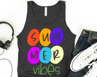summer vibes tank top / summer vibes only / summer tank top / summer gifts / unisex tank tops / summer tops /