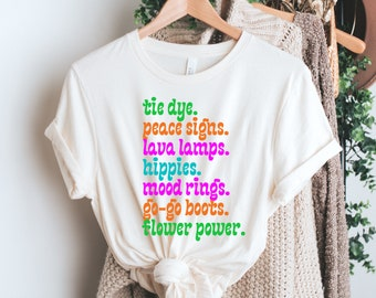 The 60s TIE DYE t-shirt / i love the 60s tees / retro t-shirts / flower power / 60s gifts / old school / hippie tees / graphic tees